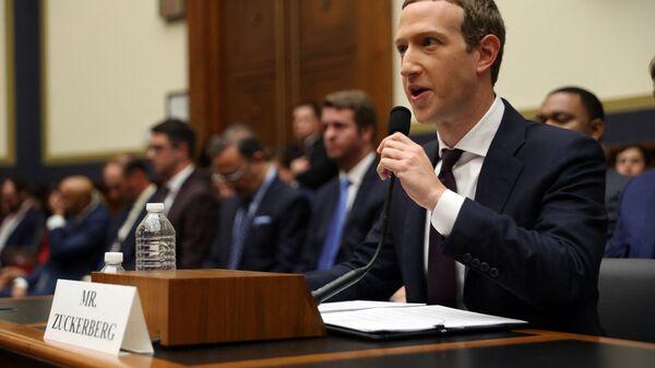 Соучредитель и генеральный директор Facebook Марк Цукерберг  - Sputnik Армения