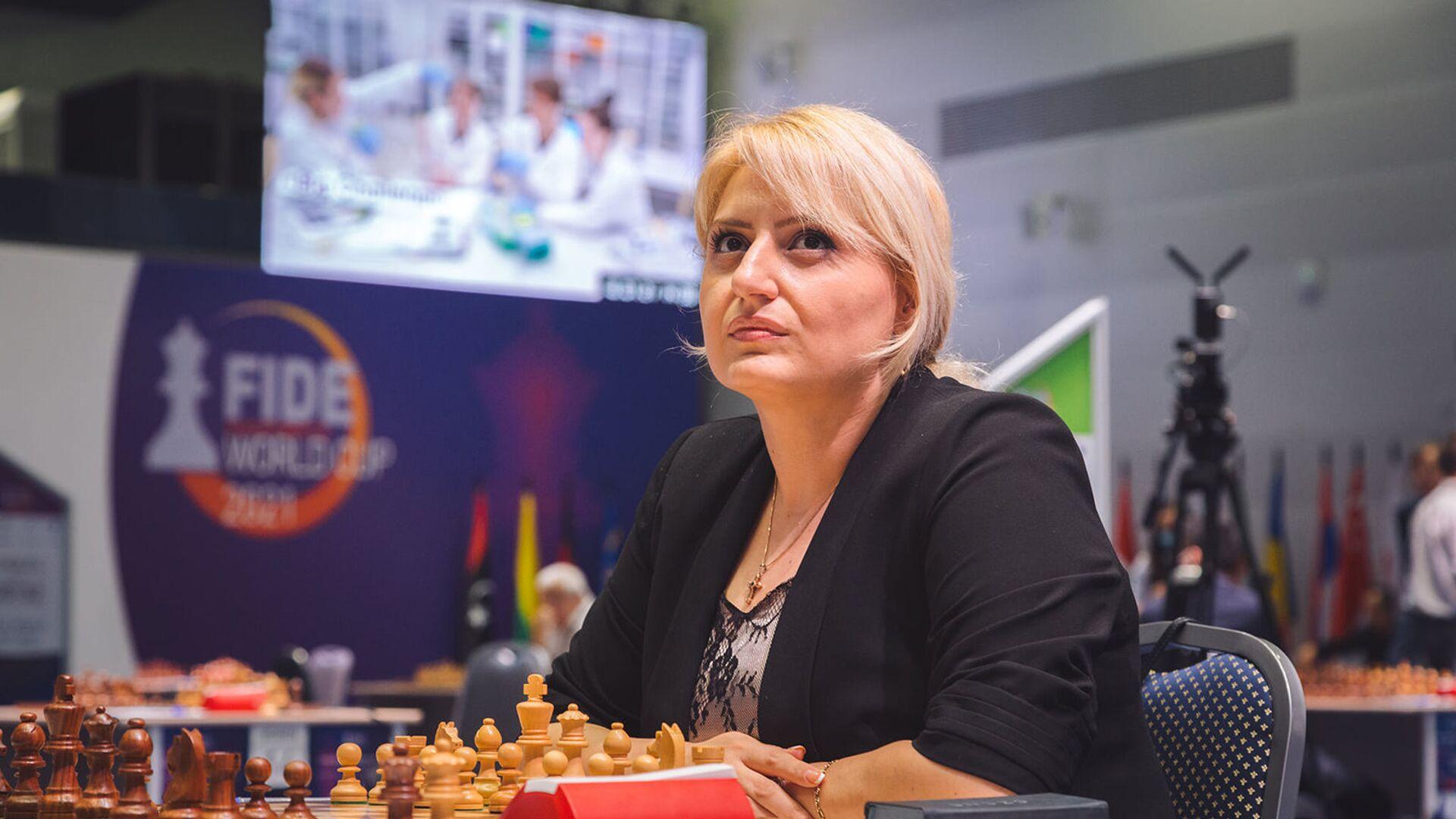 Элина Даниелян на Чемпионате Европы по шахматам среди женщин  - Sputnik Արմենիա, 1920, 15.08.2021