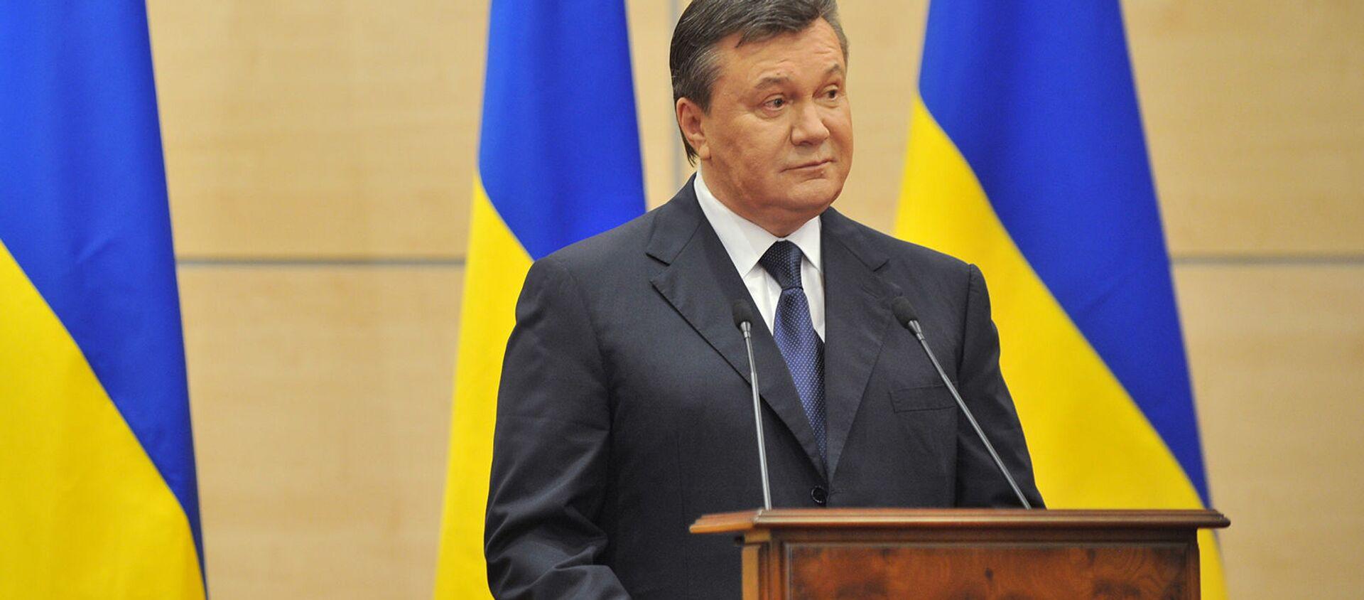 Виктор Янукович, объявивший себя ранее легитимным президентом Украины, выступает на пресс-конференции (11 марта 2014). Ростов-на-Дону - Sputnik Արմենիա, 1920, 17.08.2021
