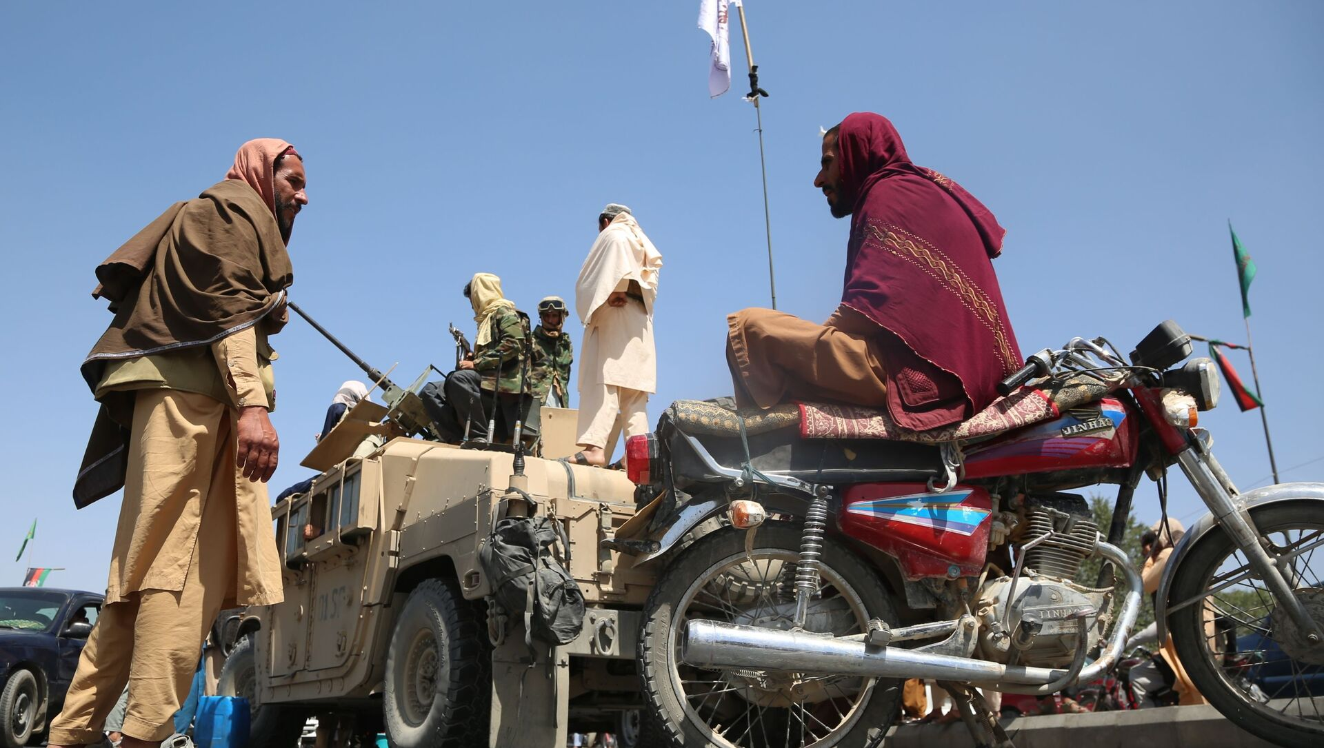 Боевики движения Талибан в Кабуле (16 августа 2021). Афганистан - Sputnik Արմենիա, 1920, 18.08.2021
