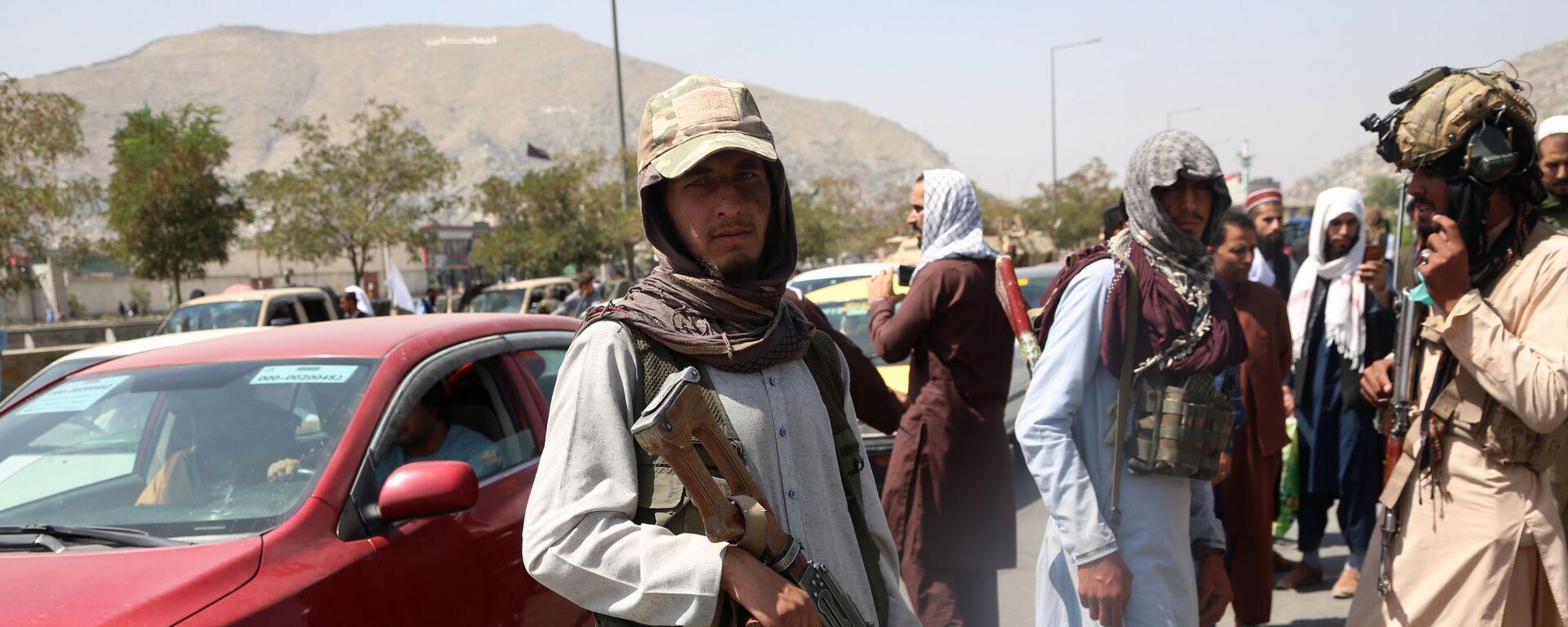 Боевики движения Талибан в Кабуле (16 августа 2021). Афганистан - Sputnik Армения, 1920, 27.08.2021