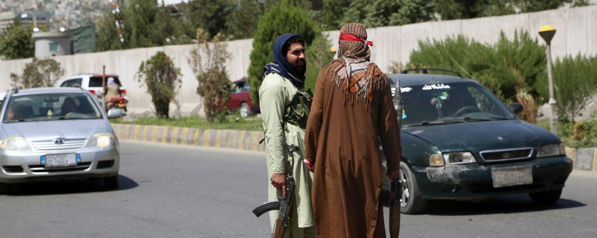 Боевики движения Талибан в Кабуле (16 августа 2021). Афганистан - Sputnik Армения, 1920, 26.09.2021