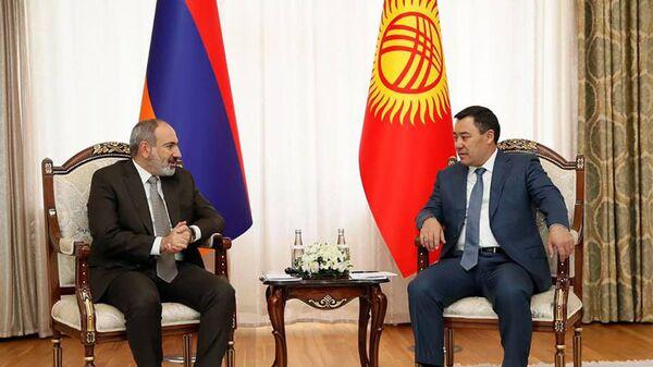 Премьер-министр Никол Пашинян встретился с президентом Кыргызстана Садиром Жапаровым (19 августа 2021). Кыргызстан - Sputnik Армения