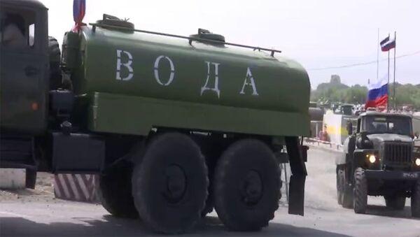 Российские миротворцы обеспечили питьевой водой более 200 семей в Степанакерте и отдаленных районах Карабаха - Sputnik Արմենիա