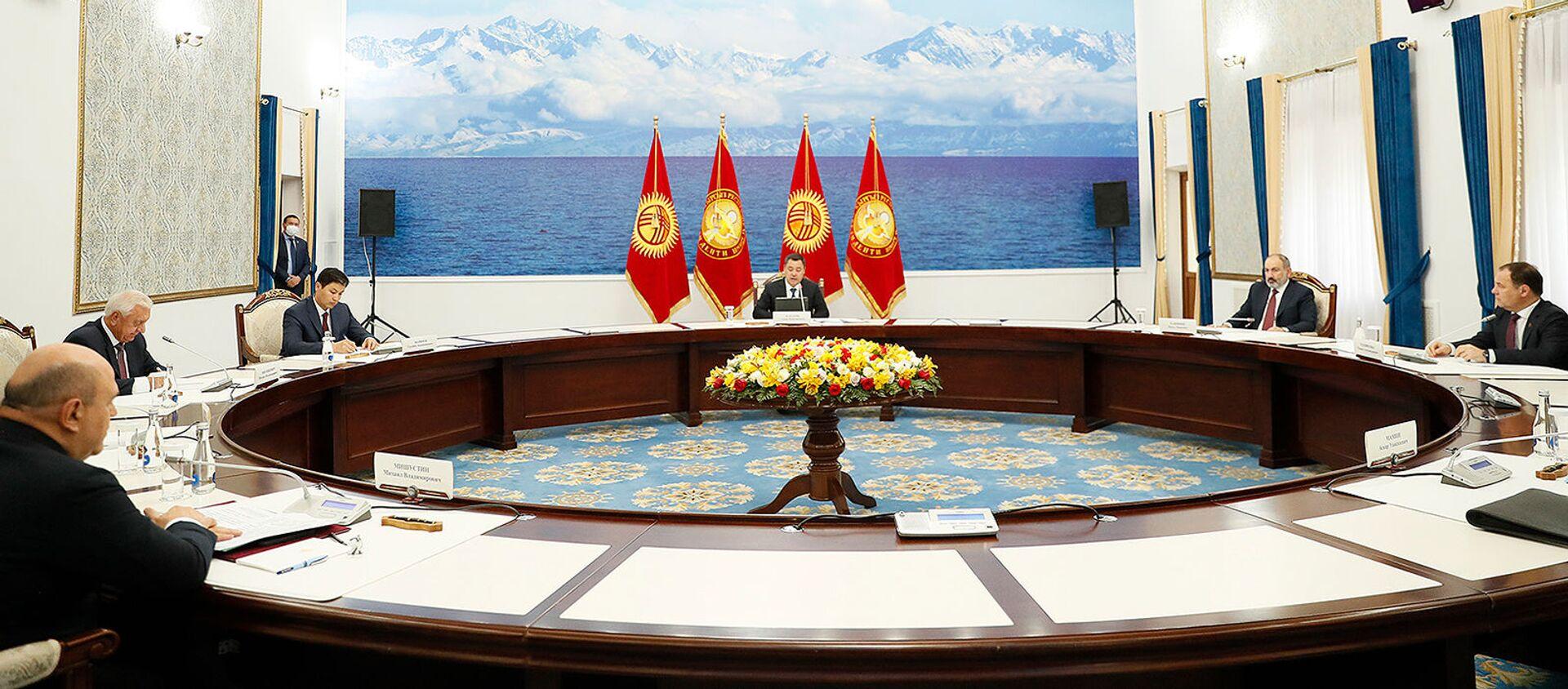 Премьер-министр Армении Никол Пашинян принял участие в заседании межправительственного совета ЕАЭС (20 августа 2021). Бишкек - Sputnik Армения, 1920, 20.08.2021