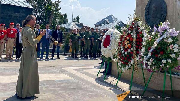 Мероприятие, посвященное памяти военных, погибших в русско-турецких войнах 19 века на холме Чести (20 августа 2021). Гюмри - Sputnik Армения
