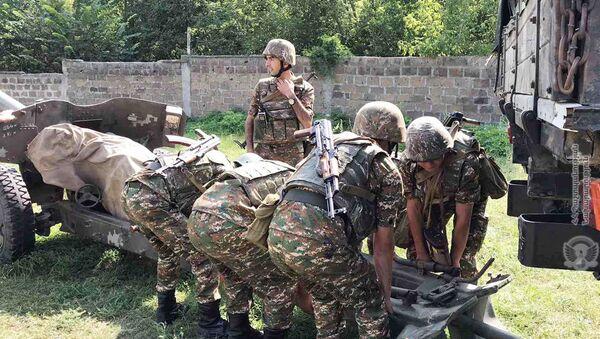 Учебная тревога в одной из воинских частей Армении - Sputnik Արմենիա