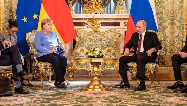 Встреча президента России Владимира Путина и канцлера Германии Ангелы Меркель (20 августа 2021). Москвa - Sputnik Արմենիա