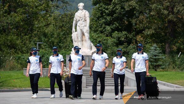 Российская делегация прибыла в Дилижан для участия в  конкурсе Воин мира в рамках Армейских международных игр-2021 - Sputnik Արմենիա