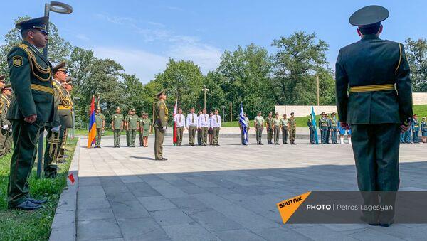 Открытие международного военного конкурса Воин мира (22 августа 2021). Дилижан - Sputnik Армения