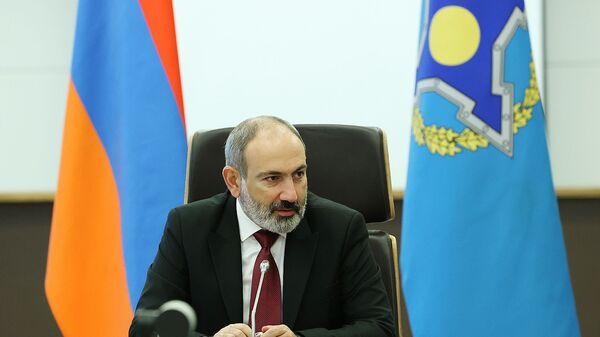 Премьер-министр Никол Пашинян на внеочередном заседании Совета коллективной безопасности ОДКБ  - Sputnik Армения