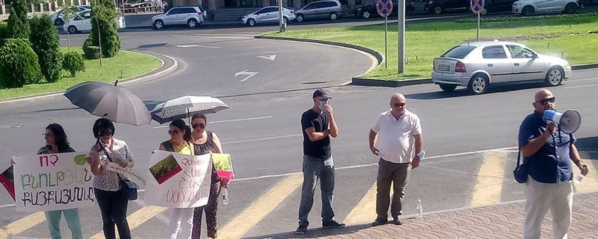 Акция протеста в физгородке (23 августа 2021). Еревaн - Sputnik Армения, 1920, 24.08.2021