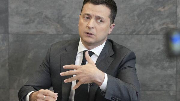 Президент Украины Владимир Зеленский во время пресс-конференции (14 июня 2021). Киев - Sputnik Армения