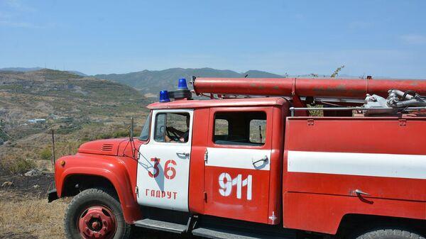 Пожарная машина МЧС в Карабахе - Sputnik Армения