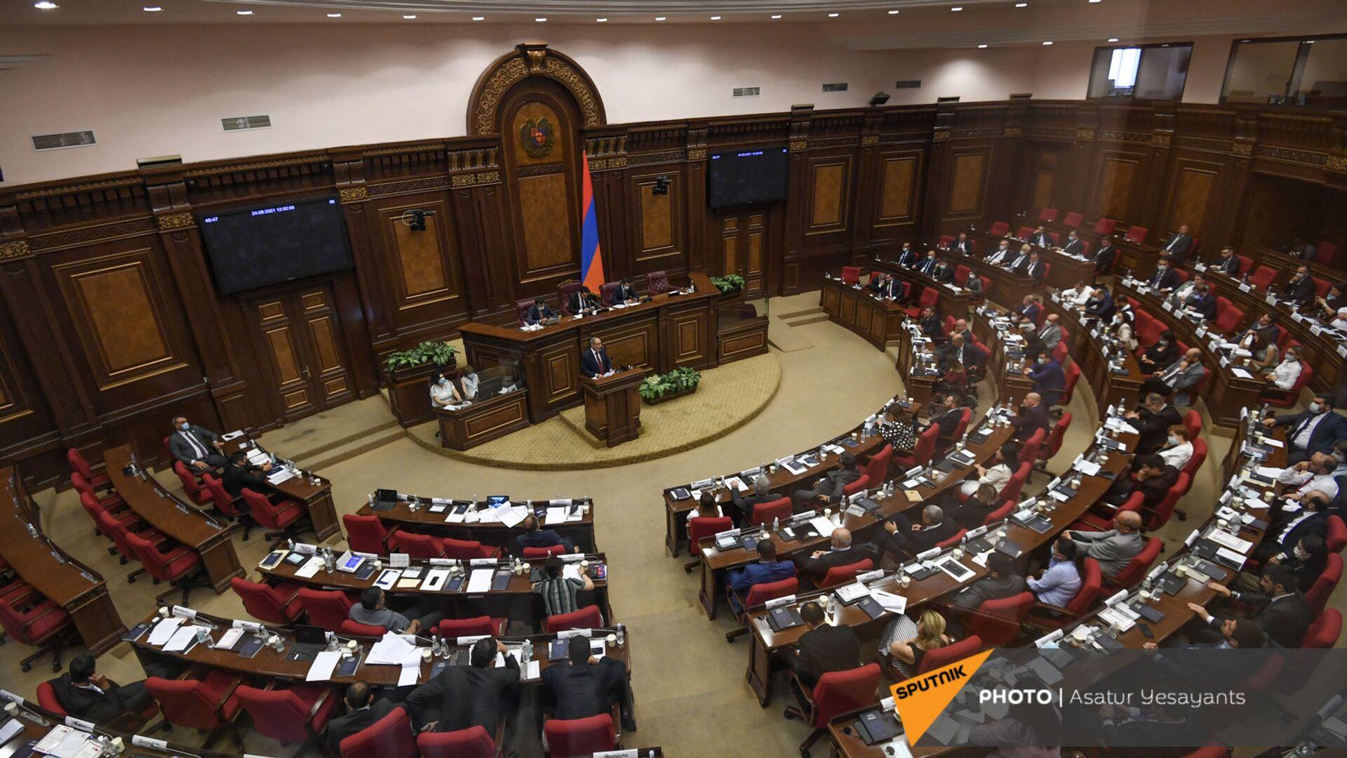 Заседание Парламента Армении (24 августа 2021). Еревaн - Sputnik Армения, 1920, 24.09.2021