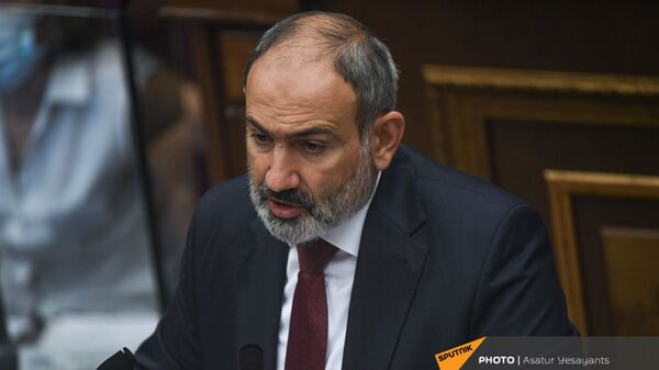 Премьер-министр Никол Пашинян на заседании Парламента Армении (24 августа 2021). Еревaн - Sputnik Армения