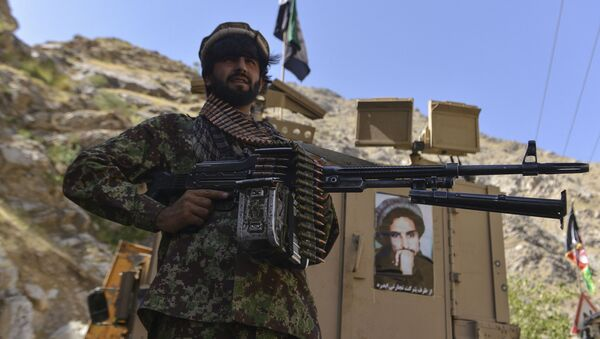 Афганское движение сопротивления во патрулирования в провинции Панджшер, Афганистан - Sputnik Армения
