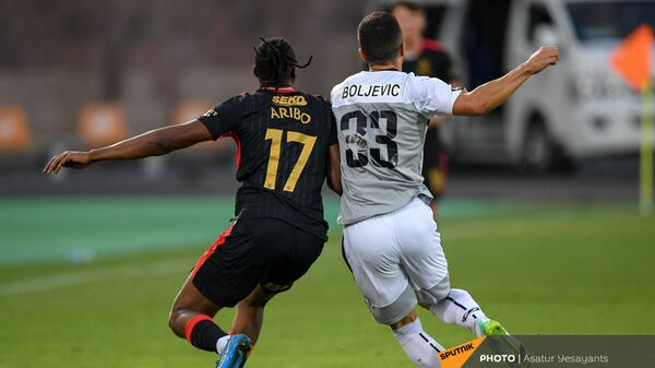 Ответный матч раунда плей-офф Лиги Европы между командами Алашкерт и Рейнджерс (26 августа 2021). Еревaн - Sputnik Армения