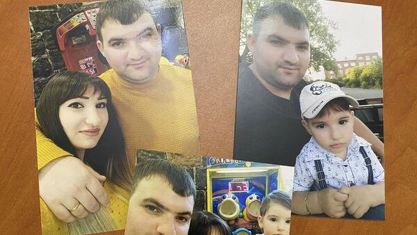 Семейные фотографии Ара Мкртчяна с женой Аидой и сыном Эриком - Sputnik Армения