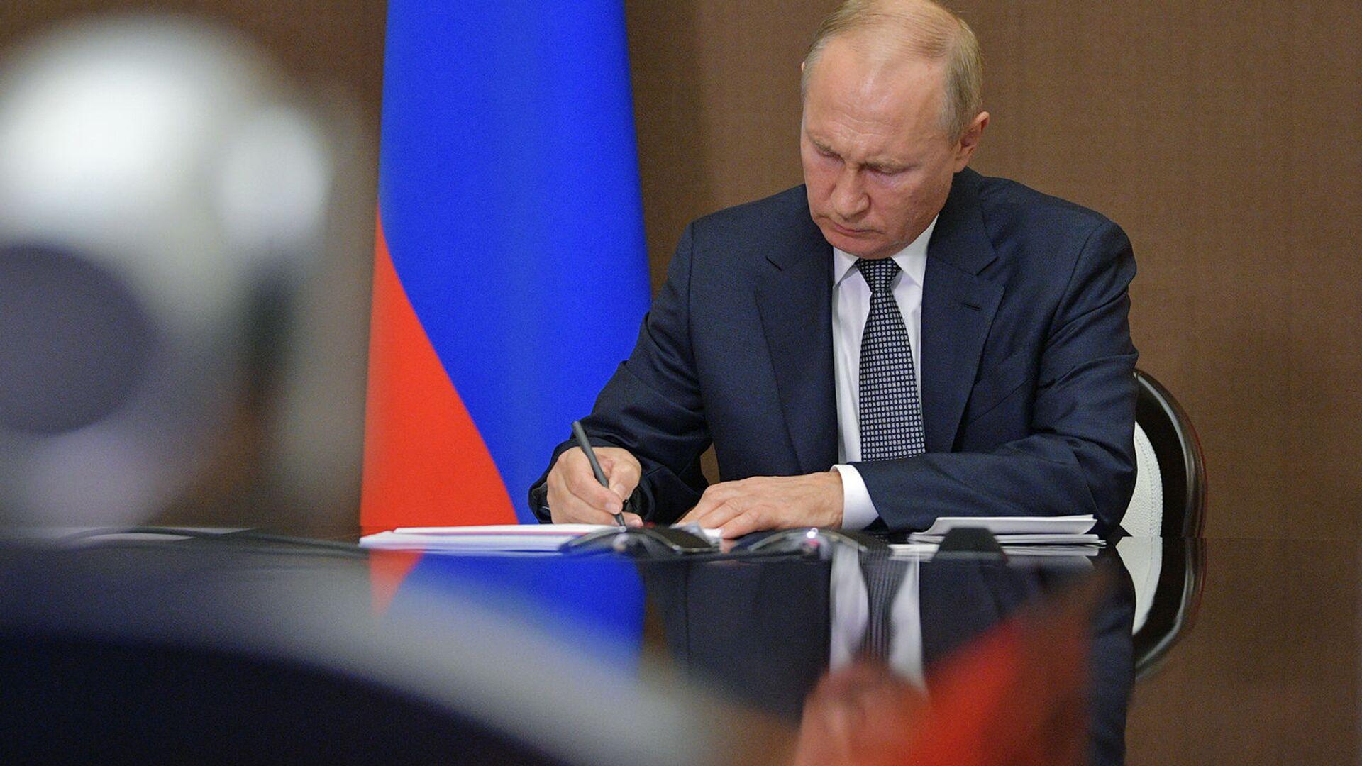 Президент России Владимир Путин - Sputnik Армения, 1920, 22.09.2021
