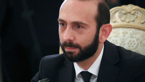 Министр иностранных дел Армении Арарат Мирзоян во время встречи с российским коллегой (31 августа 2021). Москвa - Sputnik Արմենիա