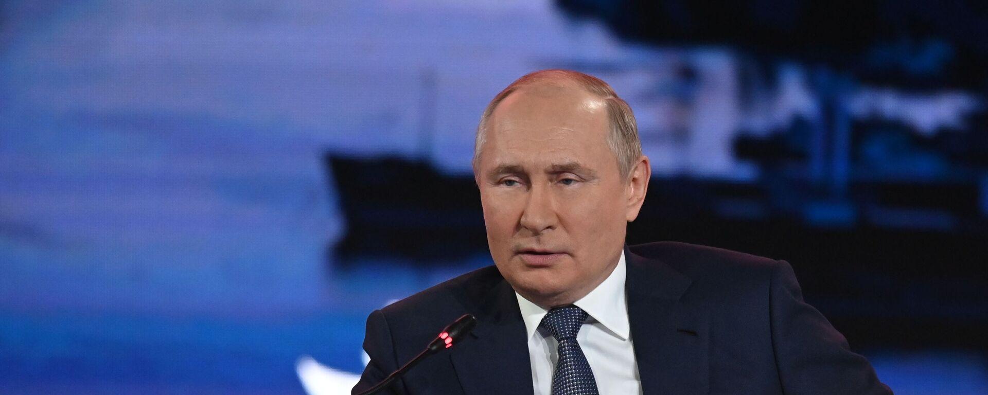 Президент РФ В. Путин  - Sputnik Армения, 1920, 21.09.2021