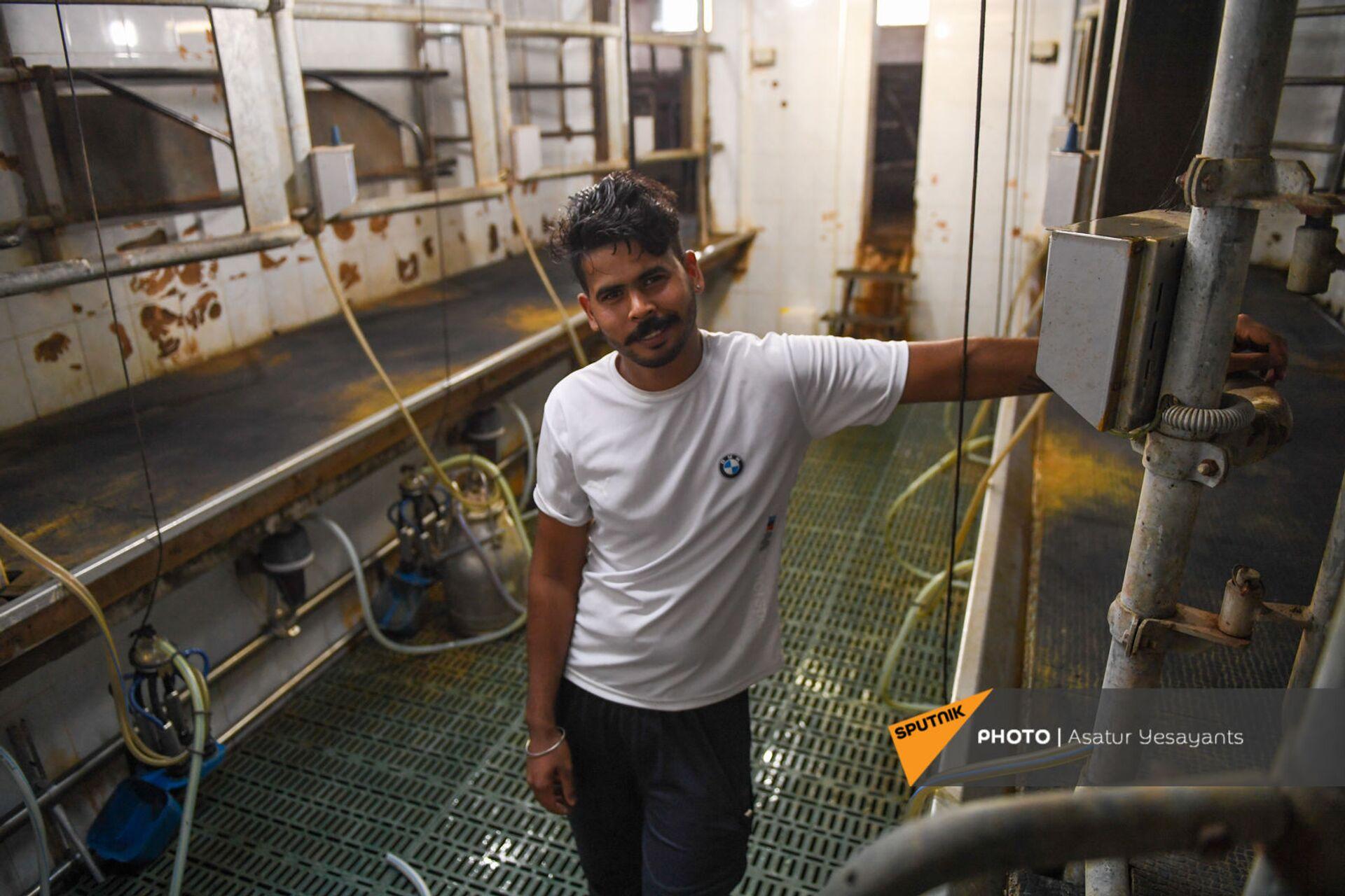 24-летний Кака из Индии на ферме компании Агрохолдинг - Sputnik Армения, 1920, 14.09.2021