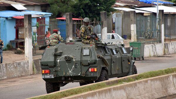 Военнослужащие Вооруженных сил Гвинеи в центральном районе Конакри после утренней стрельбы (5 сентября 2021). Гвинея - Sputnik Արմենիա