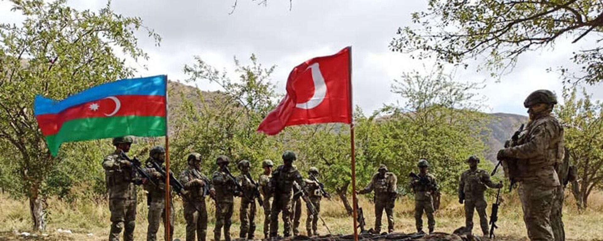 Первые военные учения Турции и Азербайджана в Карабахе - Sputnik Армения, 1920, 11.09.2021