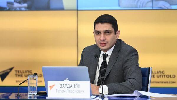 Министр по внутренним рынкам, информатизации и информационно-коммуникационным технологиям Евразийской экономической комиссии Гегам Варданян  - Sputnik Արմենիա