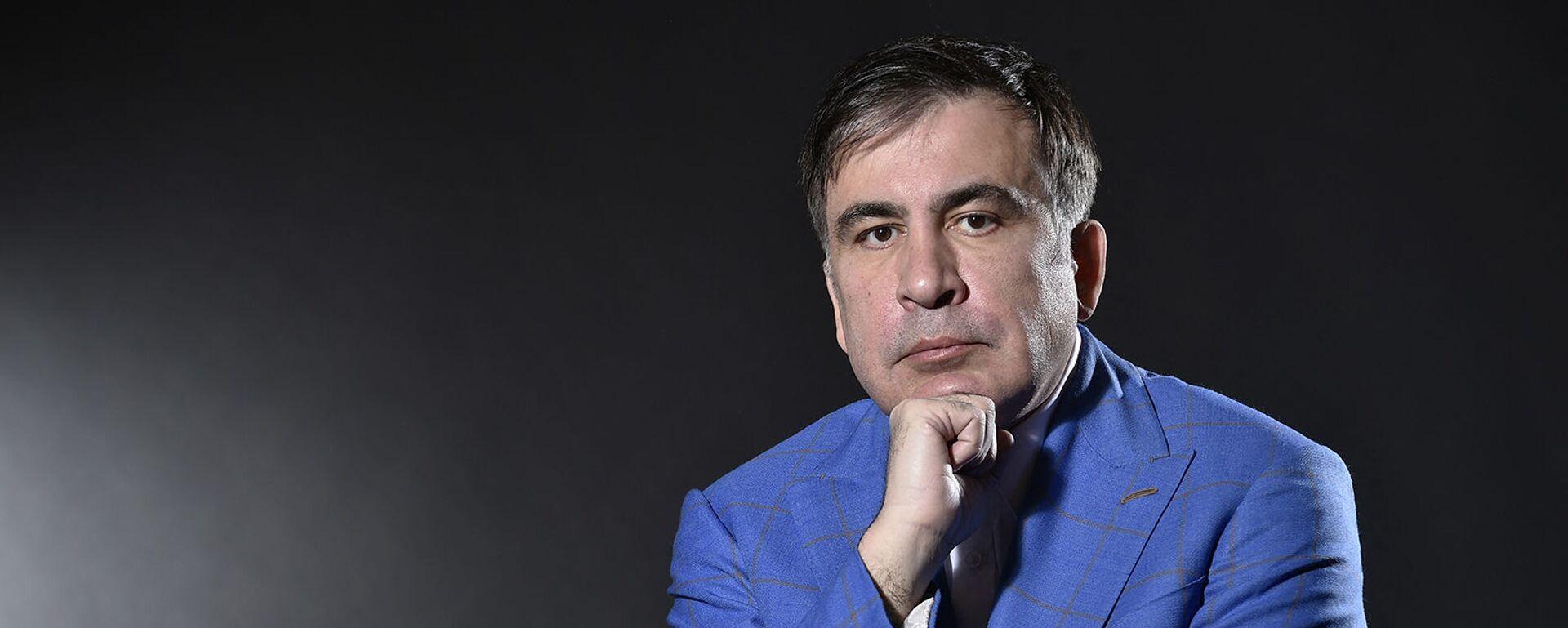 Бывший президент Грузии Михаил Саакашвили во время фотосессии (7 марта 2018). Амстердам - Sputnik Армения, 1920, 16.09.2021