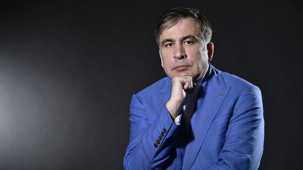 Бывший президент Грузии Михаил Саакашвили во время фотосессии (7 марта 2018). Амстердам - Sputnik Армения