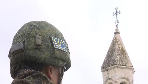 Российские миротворцы обеспечили безопасность паломников при посещении комплекса Амарас - Sputnik Արմենիա