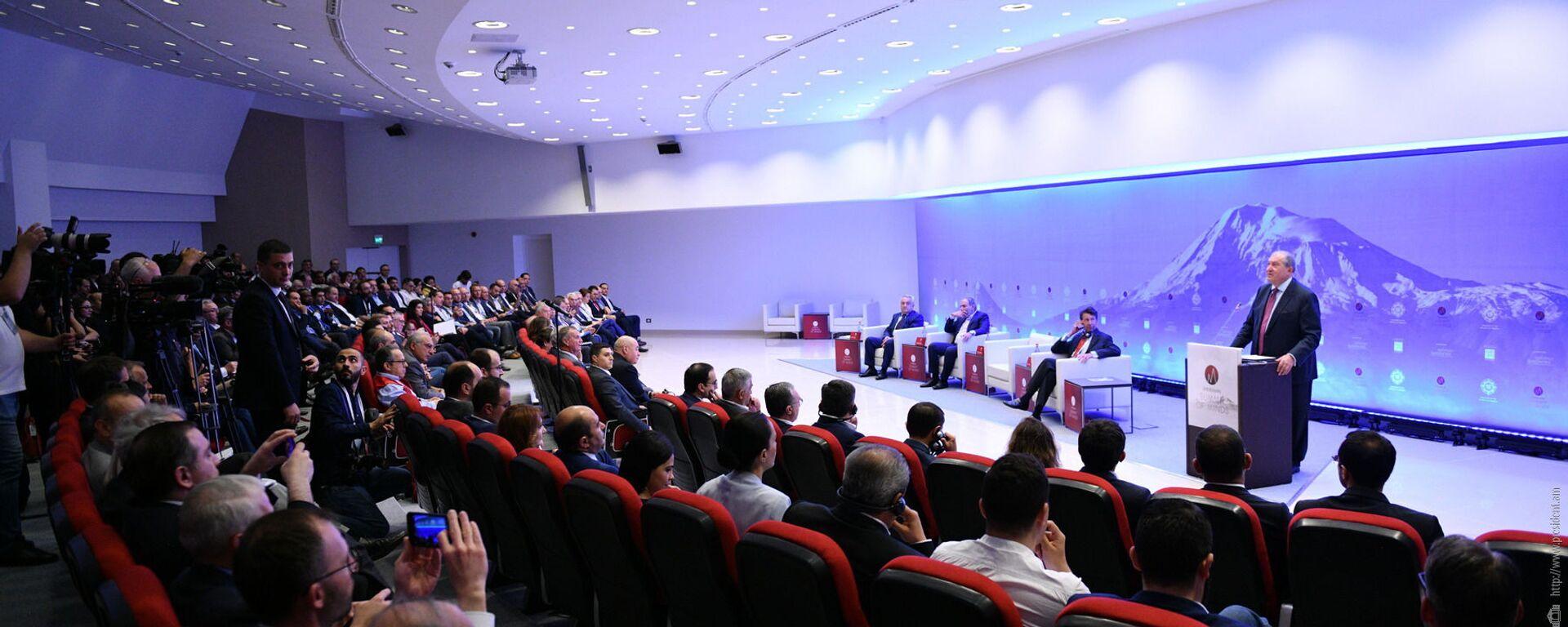 Международный «Саммит мысли» (Summit of Minds) под высоким патронажем президента Армена Саркисяна (8 июня 2019). Еревaн - Sputnik Արմենիա, 1920, 07.09.2021