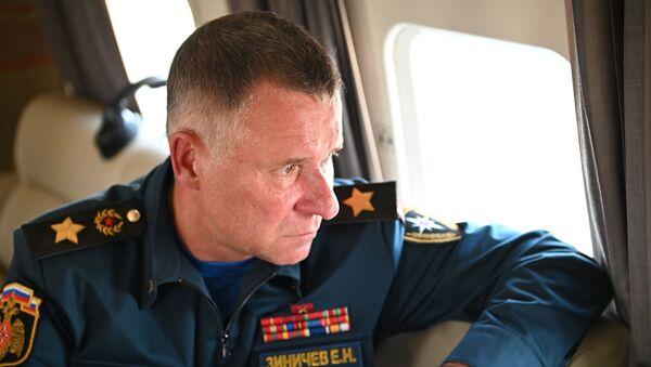 Министр МЧС России Евгений Зиничев во время совещания (6 августа 2021). Москвa - Sputnik Армения
