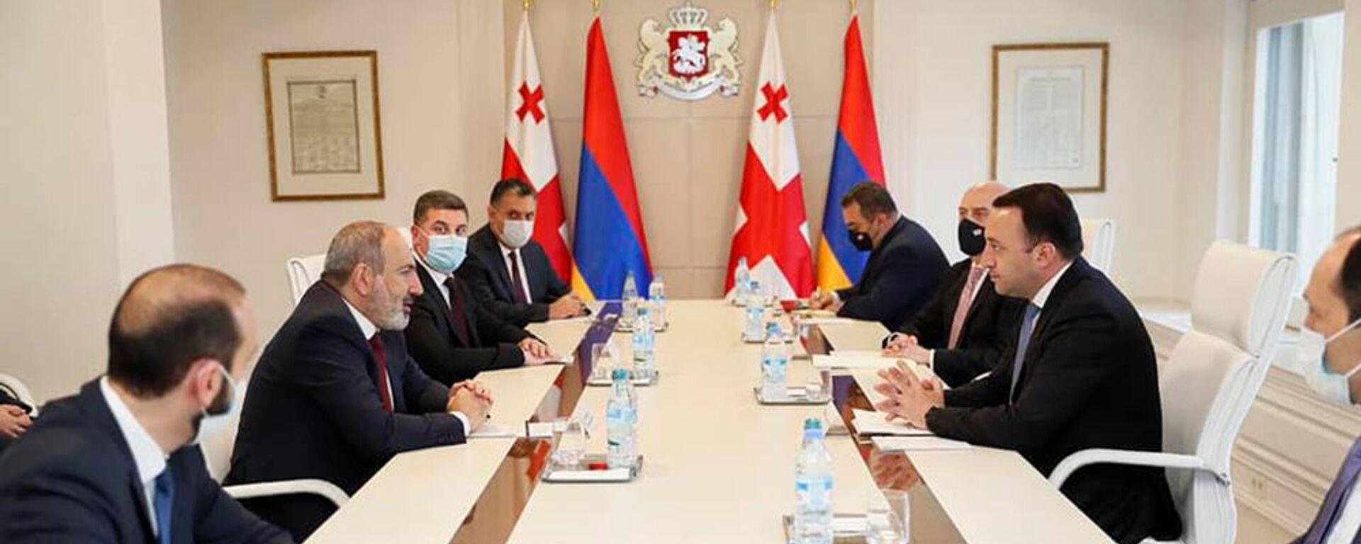 Премьер-министр Никол Пашинян во время официального визита в Грузию (8 сентября 2021). Тбилиси - Sputnik Армения, 1920, 08.09.2021