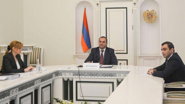 Генпрокурор Артур Давтян принял участие в 6-м заседании Межгосударственного совета по борьбе с коррупцией СНГ в режиме онлайн (8 сентября 2021). Еревaн - Sputnik Армения