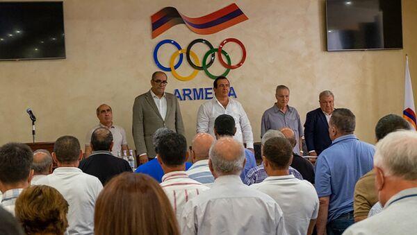 Гагик Царукян на отчетно-выборной конференции Национального олимпийского комитета Армении (9 сентября 2021). Еревaн - Sputnik Արմենիա