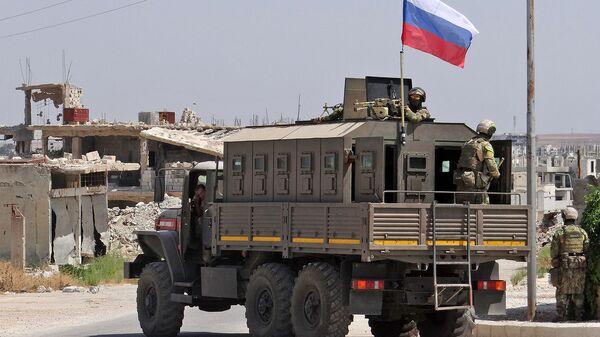 Российские войска в сирийском районе Дараа аль-Балад в южной провинции Дараа (1 сентября 2021). Сирия - Sputnik Արմենիա