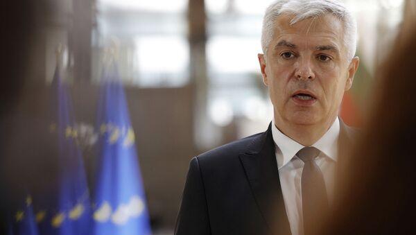 Министр иностранных дел Словакии Иван Корчок на встрече министров иностранных дел ЕС в здании Европейского совета (10 мая 2021). Брюссель - Sputnik Արմենիա