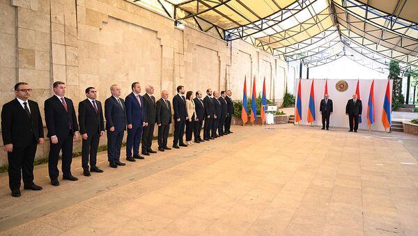 Նախագահական նստավայրում տեղի է ունեցել ՀՀ կառավարության անդամների երդման արարողությունը - Sputnik Արմենիա