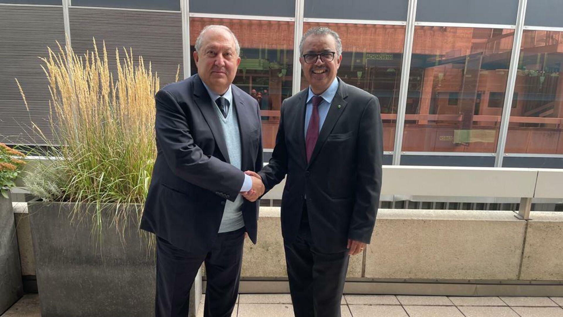 Արմեն Սարգսյանը հանդիպել է ԱՀԿ գլխավոր տնօրենին - Sputnik Արմենիա, 1920, 16.09.2021