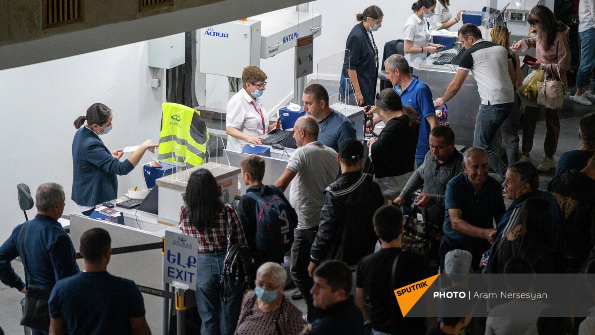 Первый рейс в аэропорту Ширак после реконструкции (16 сентября 2021). Гюмри - Sputnik Արմենիա, 1920, 20.09.2021