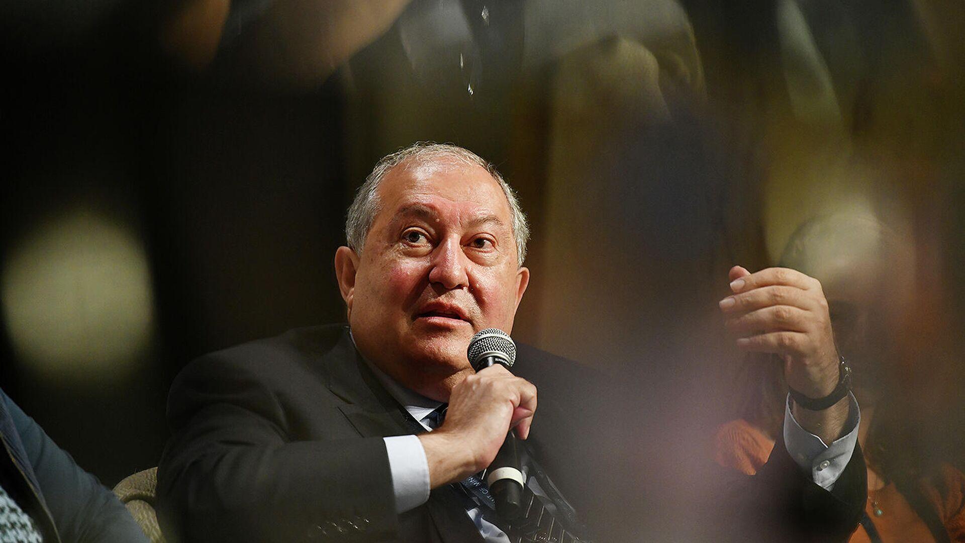 Президент Армен Саркисян принял участие в открытии ежегодного Summit of Minds (17 сентября 2021). Шамони, Франция - Sputnik Армения, 1920, 17.09.2021