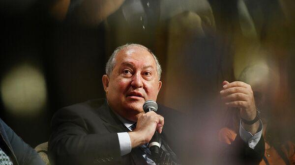 Президент Армен Саркисян принял участие в открытии ежегодного Summit of Minds (17 сентября 2021). Шамони, Франция - Sputnik Армения