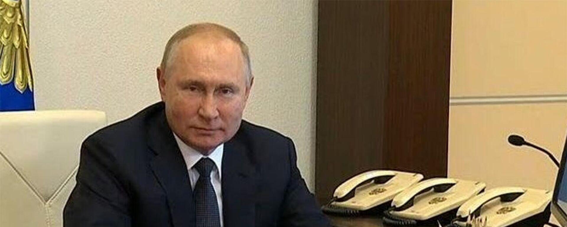 Путин проголосовал на выборах в Госдуму онлайн  - Sputnik Армения, 1920, 17.09.2021