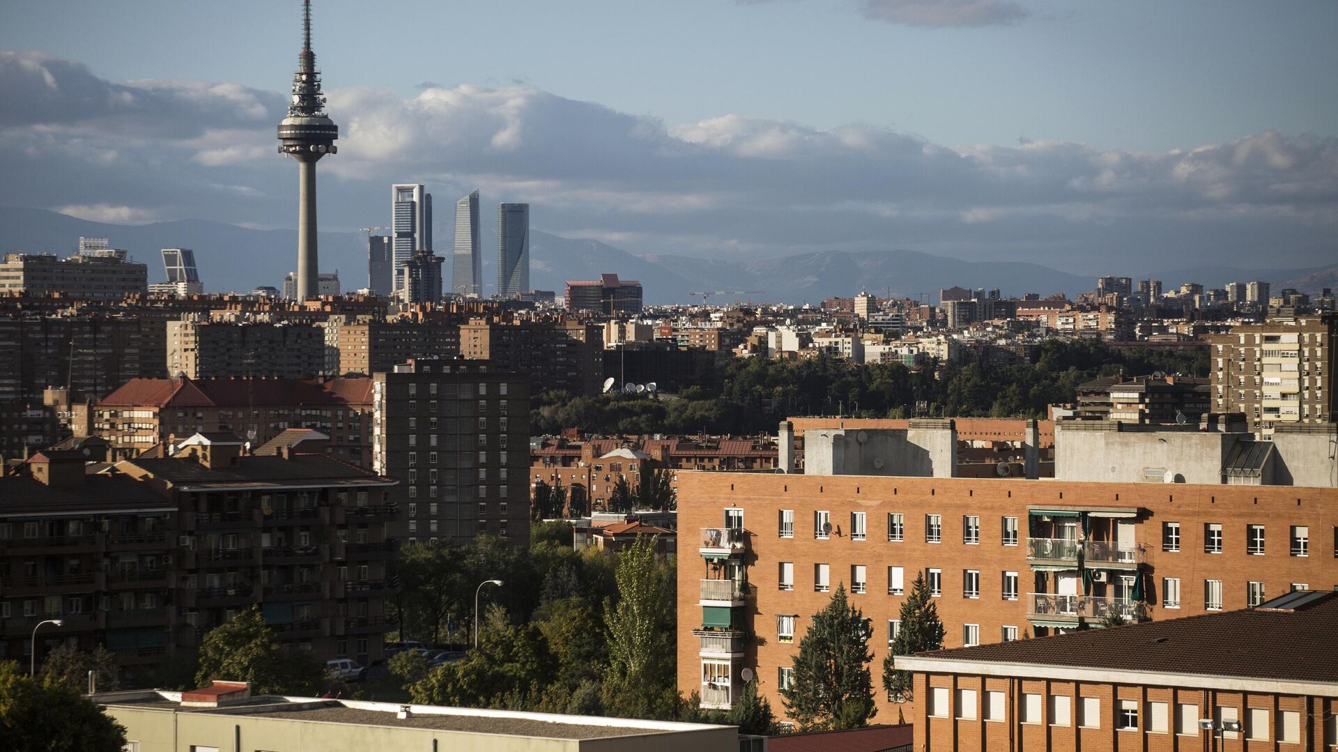 Панорама Мадрида с телебашней - Sputnik Армения, 1920, 17.09.2021