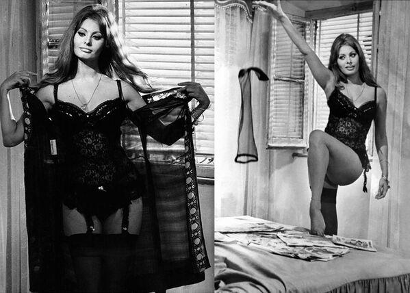 Легендарный стриптиз Софи Лорен в фильме Вчера, сегодня, завтра (1963) режиссера Витторио Де Сика. - Sputnik Армения
