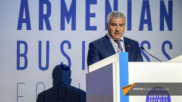 Самвел Карапетян на бизнес-форуме Armenian Business Forum (ABF) 2021 ассоциации армянских предпринимателей (20 сентября 2021). Ереван - Sputnik Армения