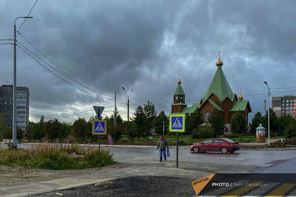 Церковь в городе Полярные Зори - Sputnik Армения
